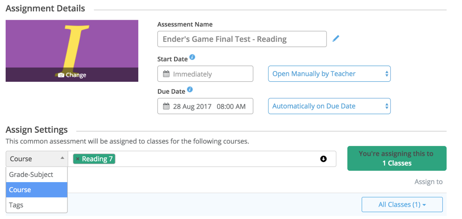What is a course? - Edulastic Knowledge Base