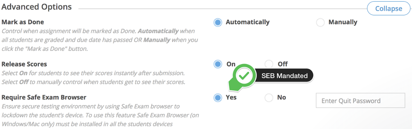 Test Security: Safe Exam Browser – Edulastic Knowledge Base